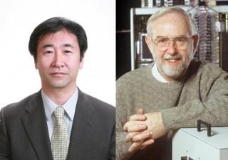 카지타 다카아키 일본 도쿄대 교수(왼쪽)와 아서 맥도날드 캐나다 퀸즈대 교수. - 도쿄대, 캐나다 물리학회 제공